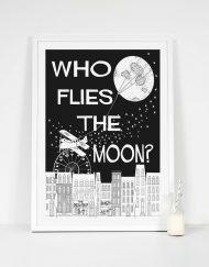 balck moon print