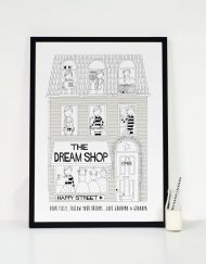 grey personalised girls dream shop print