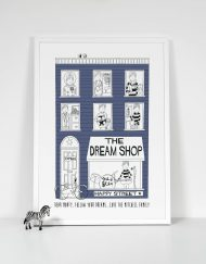 navy blue boys dream shop personalised print