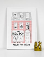 bubblegum pink girls dream shop print